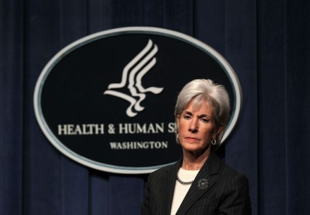 WASHINGTON, DC - DECEMBER 19: U.S. Secretary of Health and Human Services Kathleen Sebelius listens during a news conference December 19, 2011 at the Department of Health and Human Services in Washington, DC. Sebelius announced that thirty-two health care organizations from across the country will participate in a new Accountable Care Organization (ACOs) initiative which encourage primary care doctors, specialists, hospitals and other caregivers to provide better, more coordinated care for people with Medicare and could save up to $1.1 billion over five years.