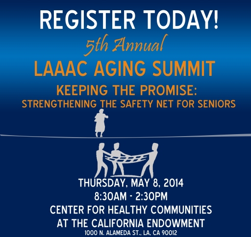 5th Annnual LAAAC Aging Summit Logo - Register Today 04 17 14