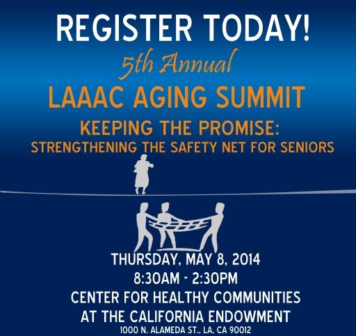 5th Annnual LAAAC Aging Summit Logo - Register Today 04 17 14
